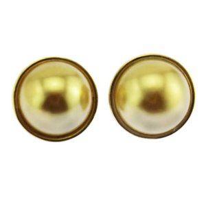 Joan Rivers Gold Pearl Stud Earrings
